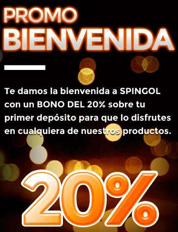 Bono de bienvenida Spingol