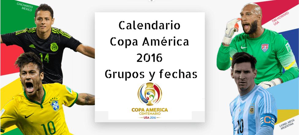 Copa america centenario fechas estados unidos