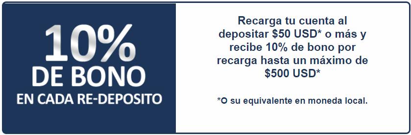 10% bono bienvenida Betcris
