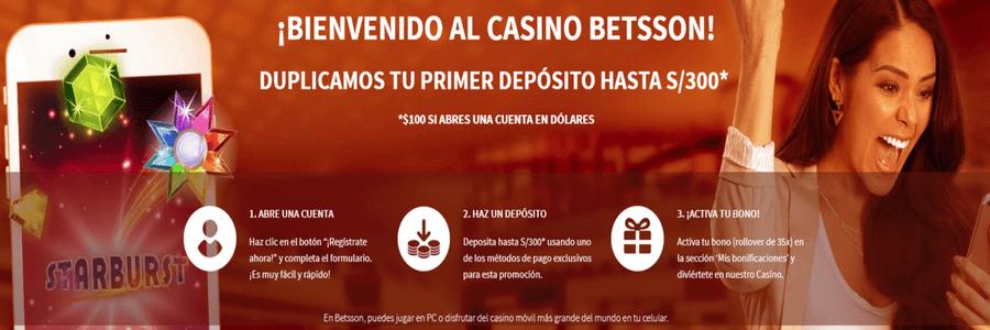 Bono bienvenida casino 300