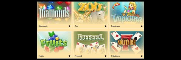 Categorías de casino