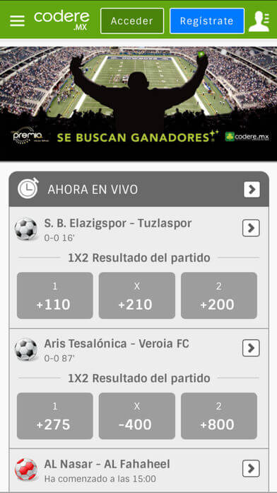 App mv Codere