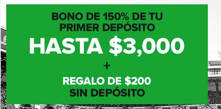 Introduce el código promoción Codere: 150% de tu primer depósito hasta 3000 pesos