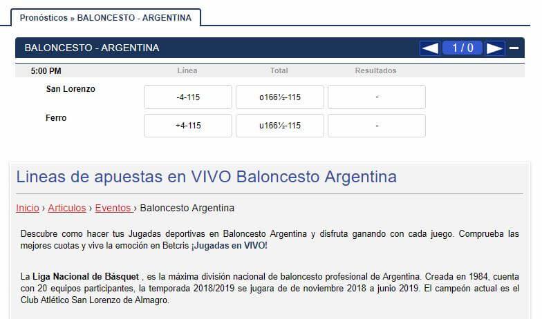 betcris argentina cuotas