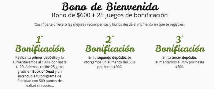 Casimba Casino Bono