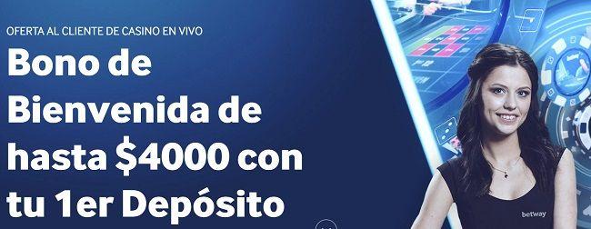 Betway Bono de Bienvenida Casino en Vivo